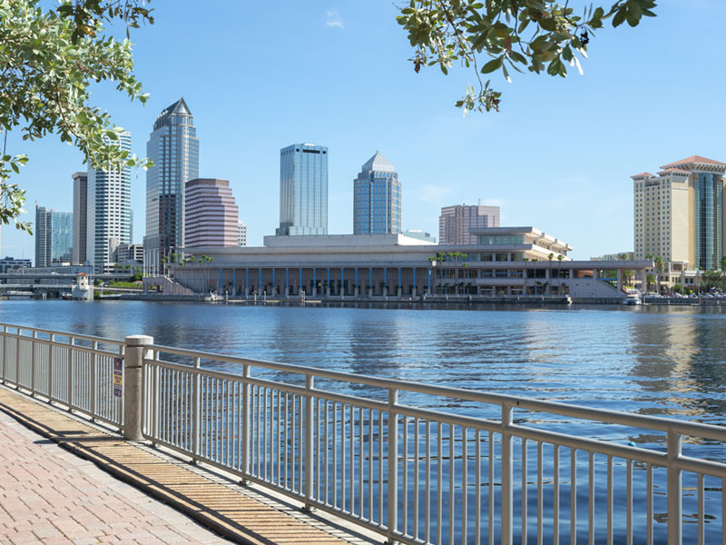 waterfront skyline of Tampa Bay